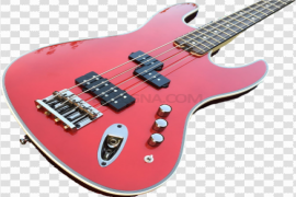 Red Electric Guitar PNG HD