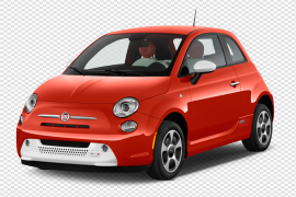 Front View Red Fiat PNG File