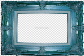 Square Teal Frame PNG Clipart