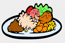 Food Plate Vector PNG