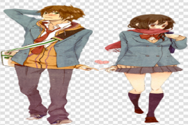 Cute Anime Couple PNG Free Download