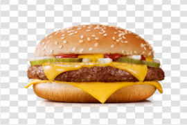 Bacon Cheese Burger Transparent PNG