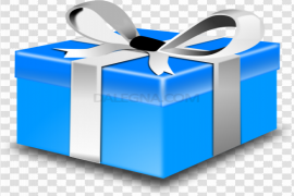 Blue Christmas Gift PNG Clipart