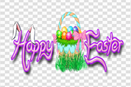 Happy Easter Logo PNG Image