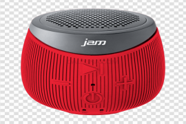 Red Bluetooth Speaker PNG Clipart