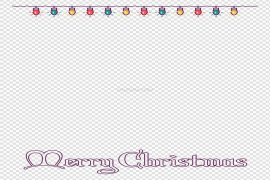 Christmas Lights Border PNG Picture