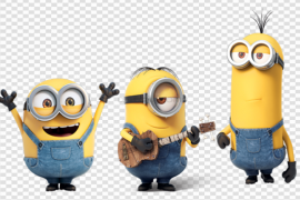 Group Minions PNG Transparent Picture