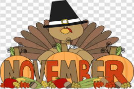 November PNG Picture