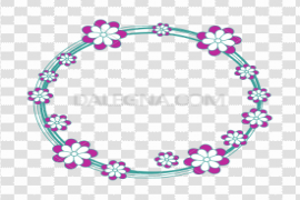Floral Round Frame PNG Free Download