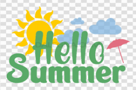 Hello Summer PNG Photo