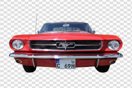 Red Ford Mustang PNG File