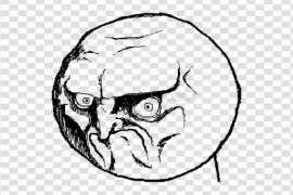 Angry Face Meme PNG Photos