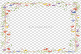 Flowers Frame Vector PNG