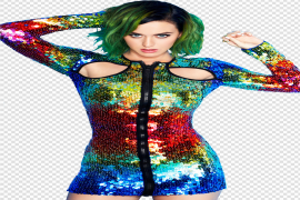 Katy Perry Green Hair PNG File