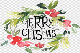 Watercolor Christmas Wreath PNG Transparent HD Photo
