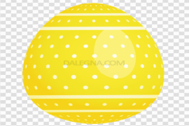 Yellow Easter Egg Background PNG