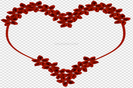 Red Vector Flower Heart PNG Clipart