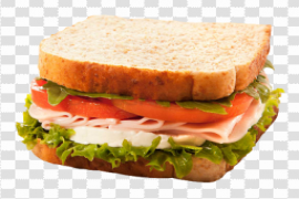 Bacon Cheese Sandwich PNG File
