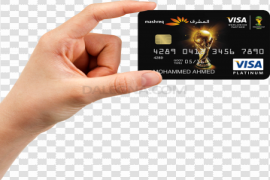 Male Hand Holding Credit Card PNG Transparent Image
