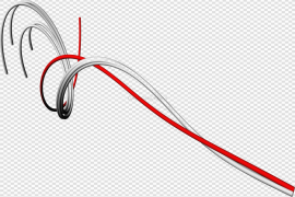 Red Abstract Lines Transparent Images PNG