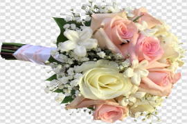 Blossom Pink Rose Flower Bunch PNG Clipart