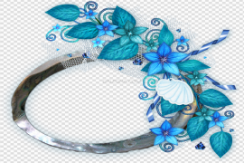 Teal Frame Clipart PNG Clipart