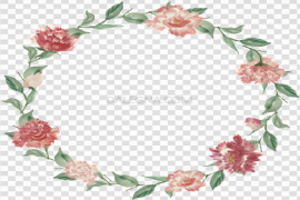 Garland Round Floral PNG Image