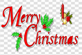 Happy Christmas Text PNG Picture