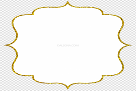 Invitation Gold Frame PNG Photos