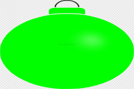 Green Christmas Bauble Transparent Background