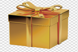 Gold Gift Bow Transparent Background