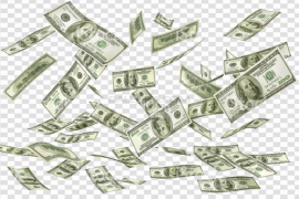 Falling Money Notes PNG File