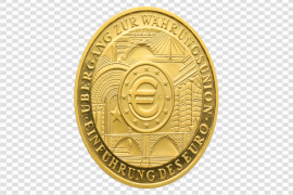 Gold Euro PNG Photo