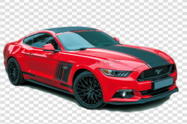 Red Ford Mustang PNG Free Download