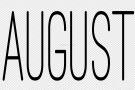 August PNG File
