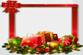 Red Christmas Gift Background PNG