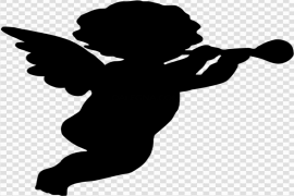 Angel Silhouette PNG File