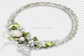 Floral Round Frame PNG Transparent Picture
