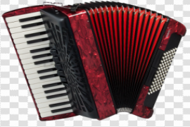 Red Accordion PNG Transparent HD Photo