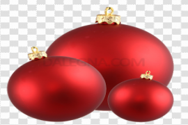 Red Christmas Ornaments PNG Image