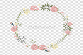 Watercolor Floral Flower Frame PNG Clipart