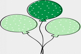 Green Balloon PNG File