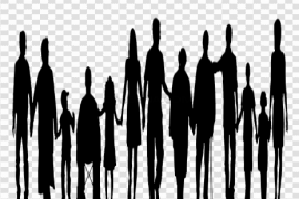 Family Reunion Silhouette PNG Transparent Image