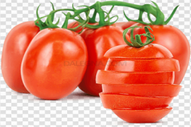 Red Fresh Tomatoes Bunch PNG Image