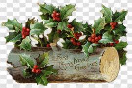 Christmas Old Fashioned Background PNG