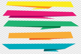 Vector Text Banner PNG Picture