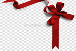 Red Christmas Ribbon PNG File