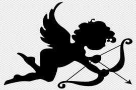 Angel Silhouette PNG Transparent Picture