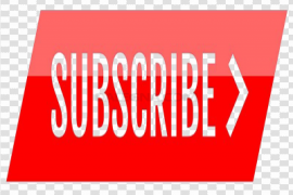YouTube Subscribe Button Transparent PNG