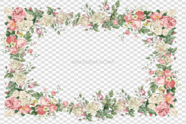 Vector Flowers Frame PNG